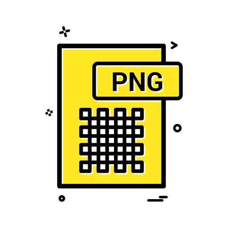 png file format icon vector design Vector Illustration