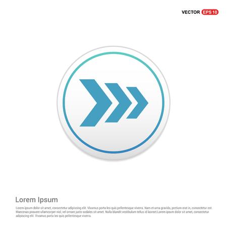 Next Arrow Icon - white circle button Ilustración de vector