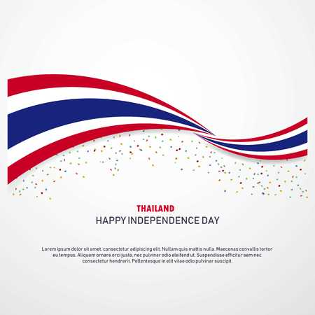 Thailand Happy independence day Background