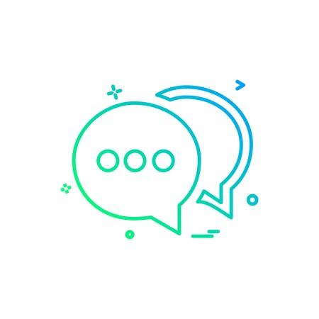 chat buble sms icon vector design Illusztráció