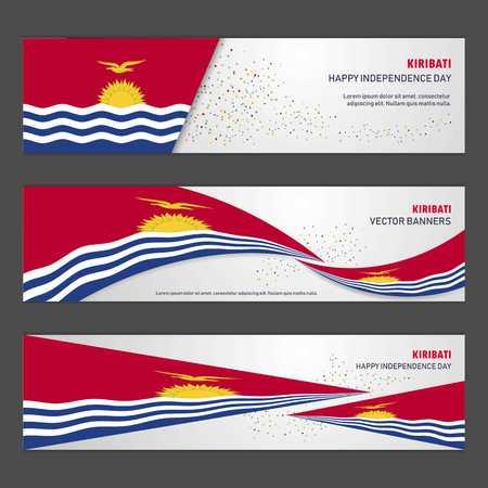 Kiribati independence day abstract background design banner and flyer, postcard, landscape, celebration vector illustration