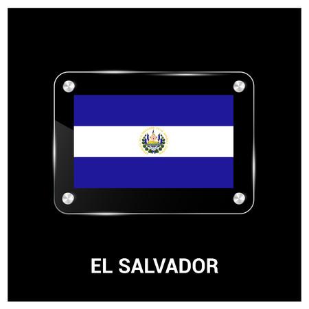 El Salvador flag design vector Ilustração