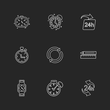 time , watch , clock , alarm , times , timer , icon, vector, design,  flat,  collection, style, creative,  icons Çizim