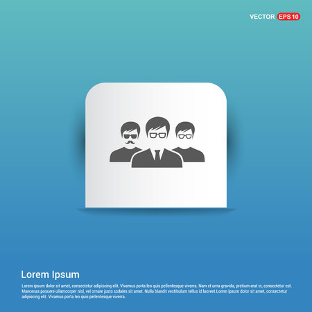 User group icon. - Blue Sticker button
