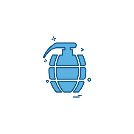 Grenade icon design vector