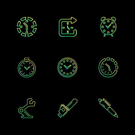pen , education , saw , cutter , Watch , time , clock , alaram , day , timers , icon, vector, design,  flat,  collection, style, creative,  icons , setting , gear ,