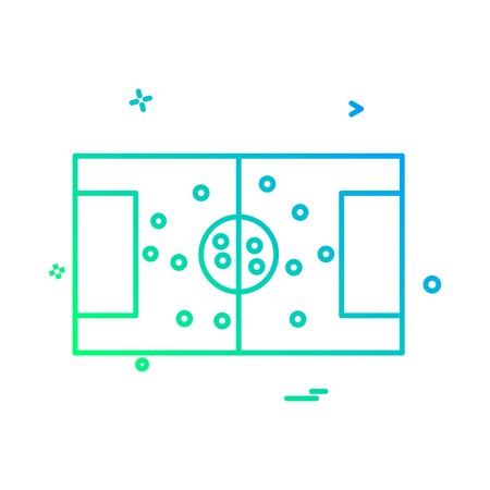 football ground icon vector design