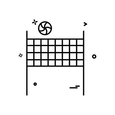 volleybal icon vector design