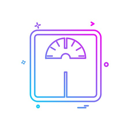 Weight machine icon design vector