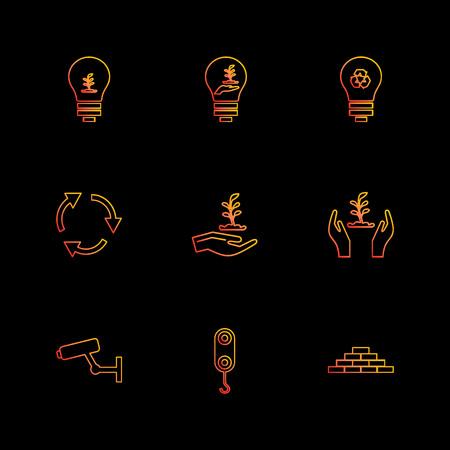 camera , crane , bricks , bulb , ecology,  save , nature , recycle , enviroment,  camera , crane , icon, vector, design,  flat,  collection, style, creative,  icons