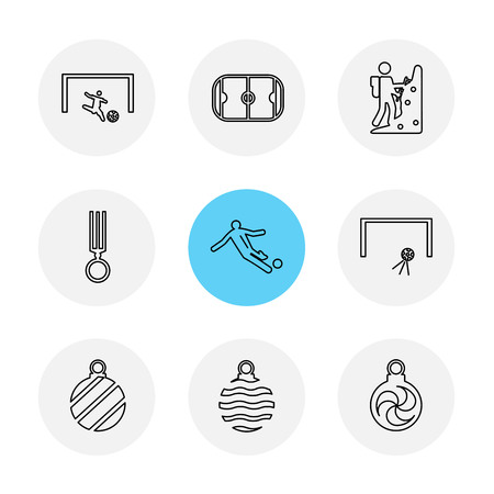 sports , games , atheletes , balls , fitness , football , fifa , russia , cricket , ball , bat , wicket, gym ,  tennis , running, race , hurdles , shoes , flag , icon, vector, design,  flat,  collection, style, creative,  icons Illustration