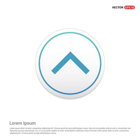 Upper Arrow Icon Hexa White Background icon template - Free vector icon