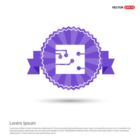 Network icon - Purple Ribbon banner