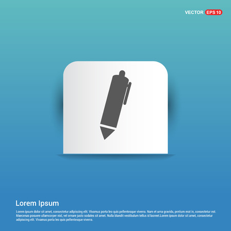 Writing pen icon - Blue Sticker button