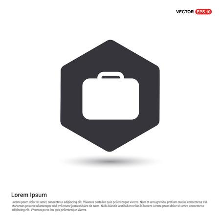 Bag icon Hexa White Background icon template - Free vector icon