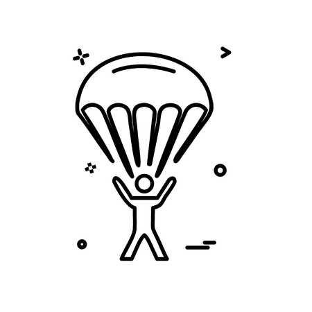 parachute icon design vector  イラスト・ベクター素材