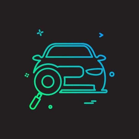 auto workshop search car icon vector design Foto de archivo - 114906594