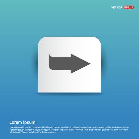 Next Arrow Icon - Blue Sticker button Ilustración de vector