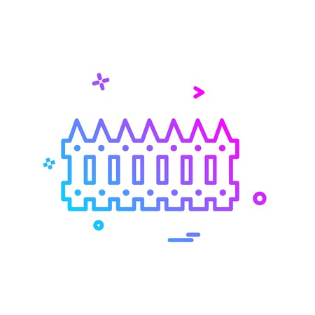 Wandbegrenzungsikonen-Entwurfsvektor