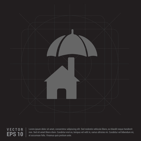 House protection icon Illustration