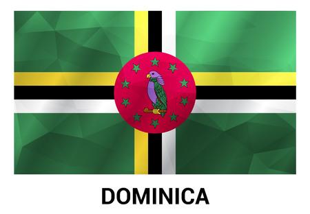 Dominica falg design vector
