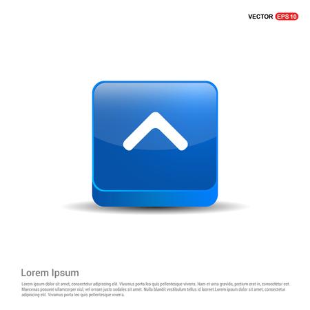 Upper Arrow Icon - 3d Blue Button.