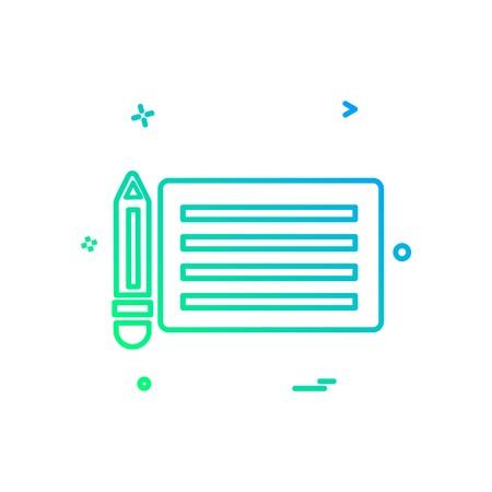 Pencil icon design vector Çizim