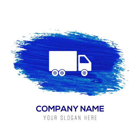 Truck icon - Blue watercolor background Illustration