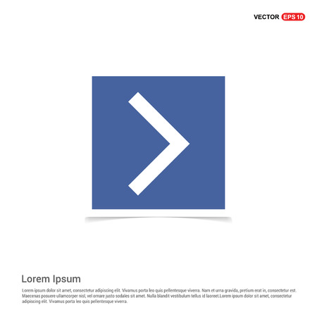 Siguiente icono de flecha - Marco de fotos azul