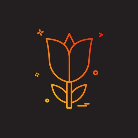 rose flower love icon vector design Vettoriali