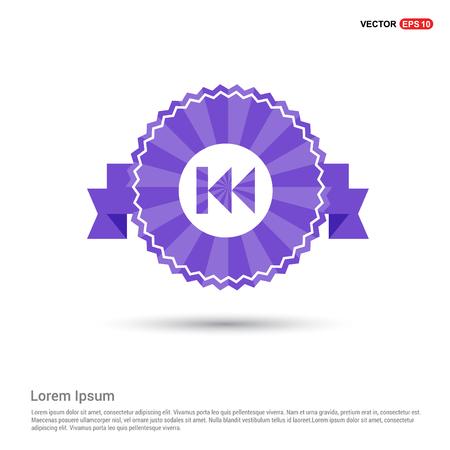 Rewind Icon - Purple Ribbon banner