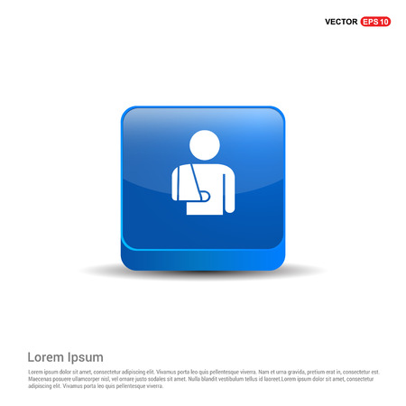 patient, icon - 3d Blue Button.