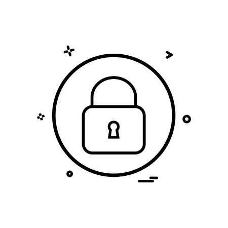 lock basic icon vector design