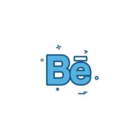 Behance icon design vector Stock Vector - 114946815