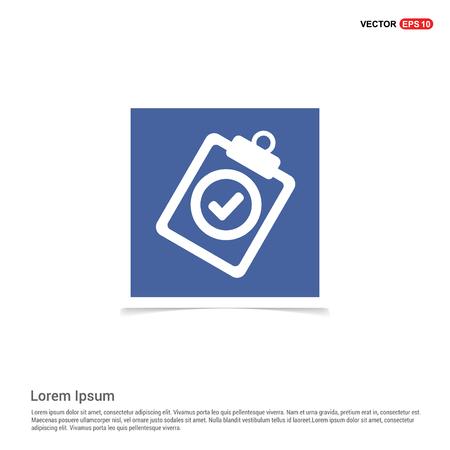 Check List Icon - Blue photo Frame