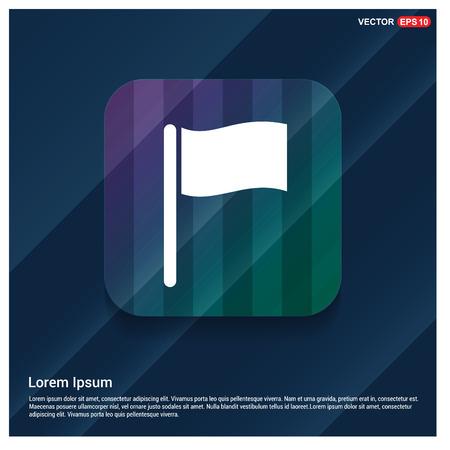 Flag icon Stock Vector - 118365448