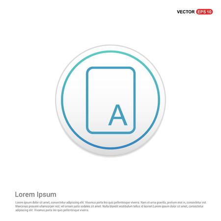 Letter Text Icon - white circle button