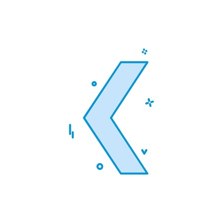 Left arrow icon design vector