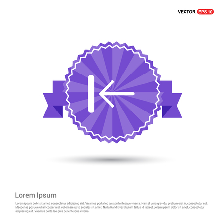 Rewind Icon - Purple Ribbon banner