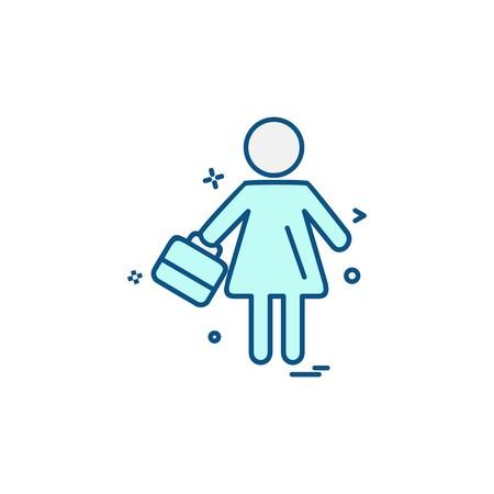 Female avtar icon design vector Illustration