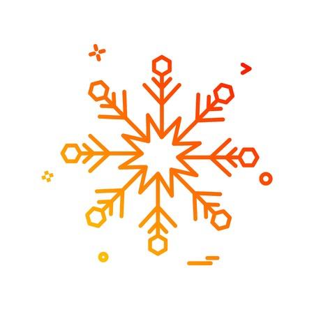Snow flakes icon design vector
