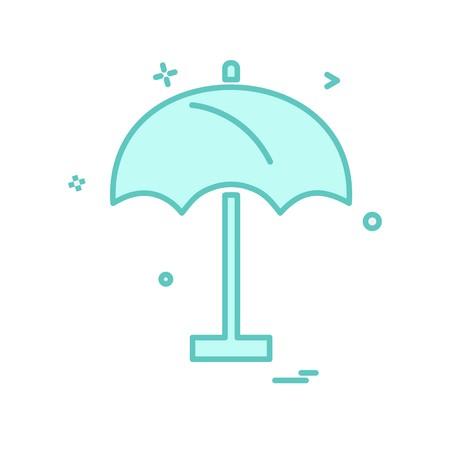 Umbrella icon design vector