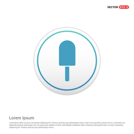 Ice cream icon - white circle button Ilustrace