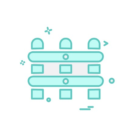 Wall Boundary icon design vector Illustration