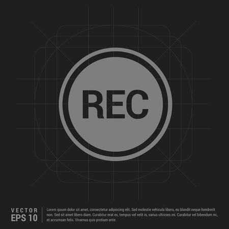 Recording icon - Black Creative Background - Free vector icon