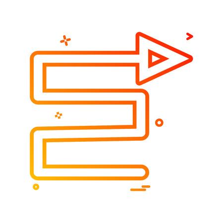 arrow bottom right to icon vector design