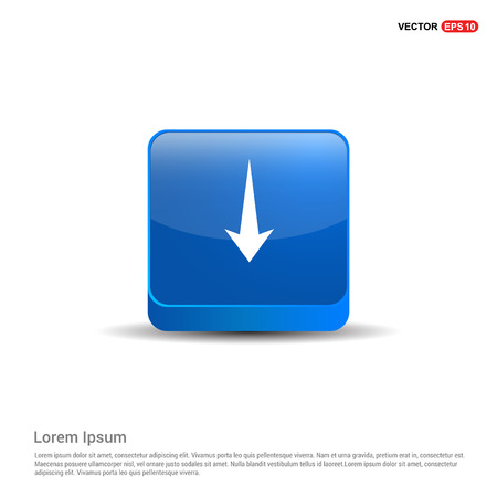 Down Arrow Icon - 3d Blue Button.