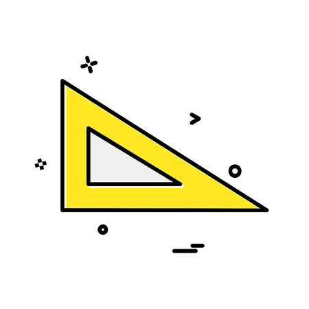Geometry scale icon design vector Ilustración de vector