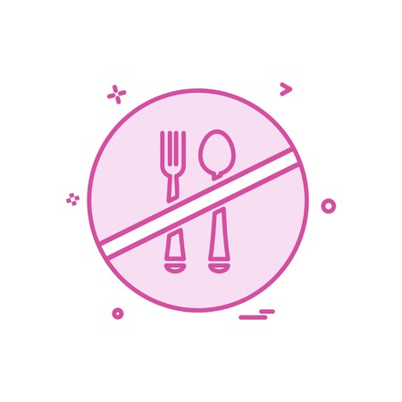 Food not allowed icon design vector