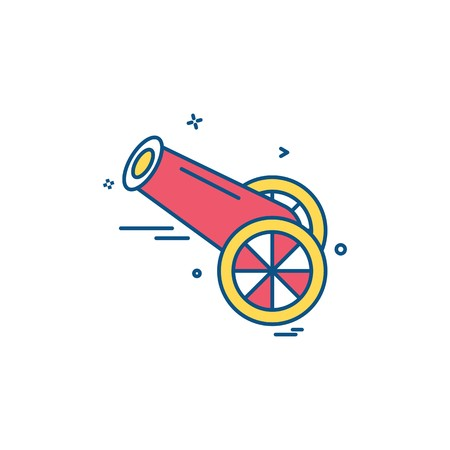 Cannon icon design vector